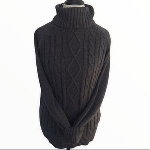 VINTAGE TRADITION Charcoal Grey Turtleneck Sweater
